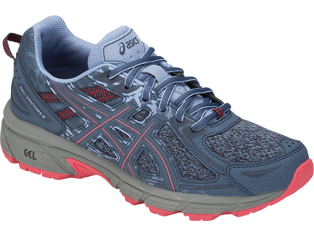 5dfe14dc4e6 GEL-VENTURE 6 | Women | STEEL BLUE/PINK CAMEO | Trail Running | ASICS