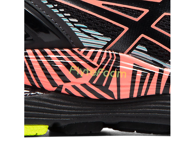 Asics Gel Nimbus 21 LS, Zapatillas de Running para Mujer, Negro (BlackSun Coral 001), 38 EU