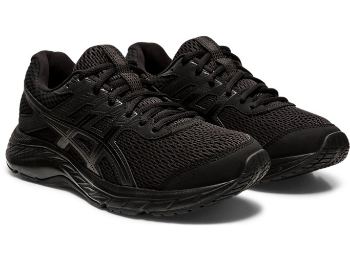 Women's GEL CONTEND™ 6 | BLACKBLACK | Buty do Biegania | ASICS