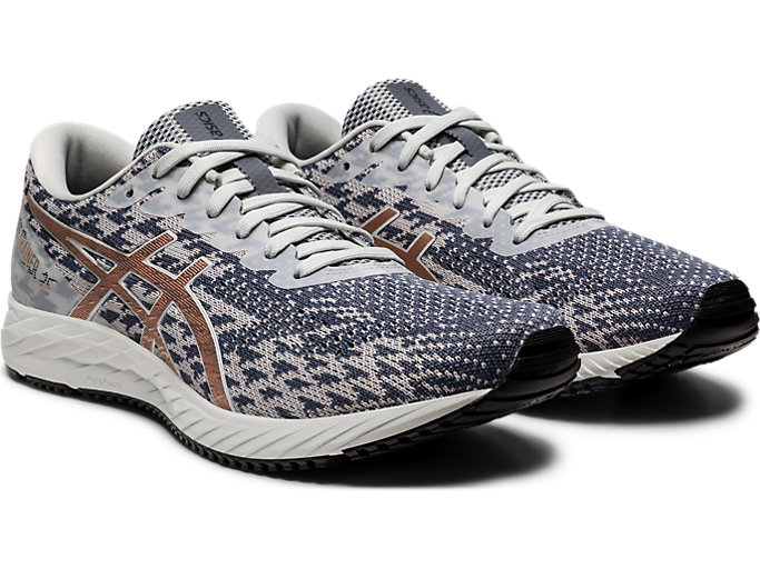 Front Right view of GEL-DS TRAINER 25, POLAR SHADE/ROSE GOLD