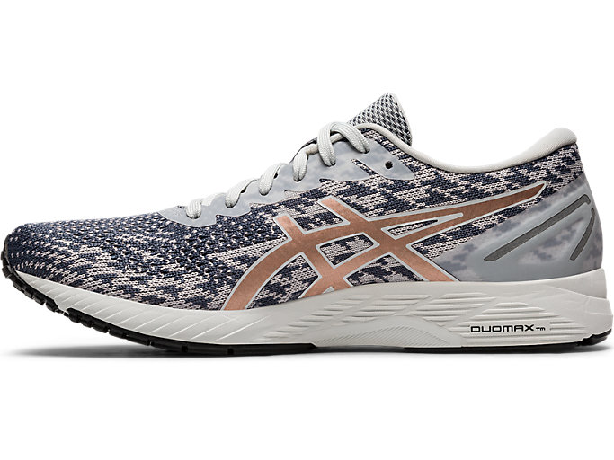 Left side view of GEL-DS TRAINER 25, POLAR SHADE/ROSE GOLD