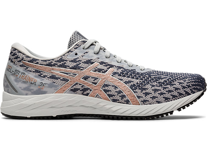 Right side view of GEL-DS TRAINER 25, POLAR SHADE/ROSE GOLD