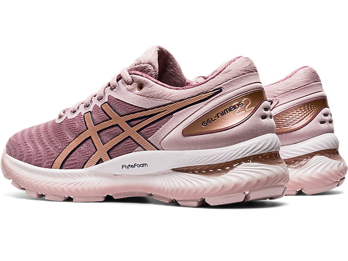 Front Left view of GEL-NIMBUS 22, WATERSHED ROSE/ROSE GOLD