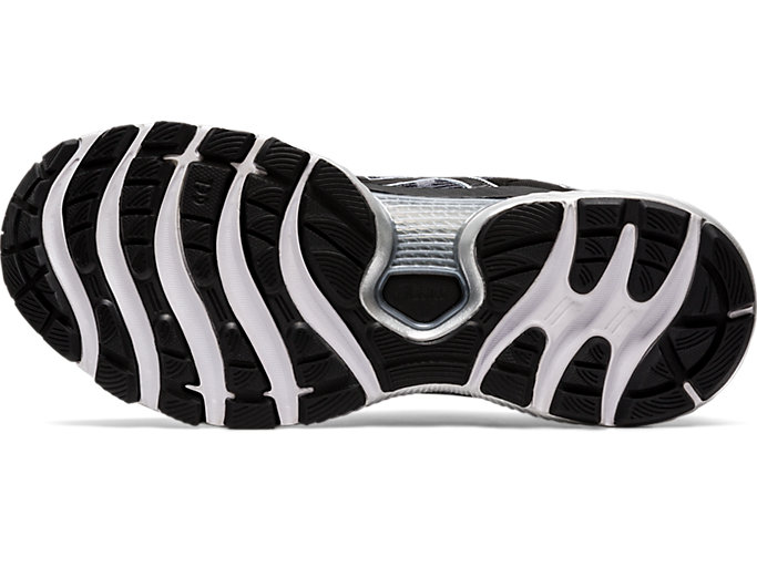 Bottom view of GEL-NIMBUS™ 22, WHITE/BLACK