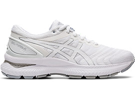 Right side view of GEL-NIMBUS 22, WHITE/WHITE