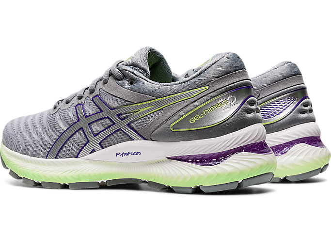 Front Left view of GEL-NIMBUS 22, WHITE/PURE SILVER