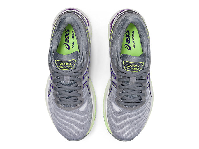 Top view of GEL-NIMBUS 22, WHITE/PURE SILVER