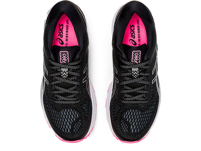 Top view of GEL-KAYANO™ 26 LITE-SHOW, BLACK/BLACK