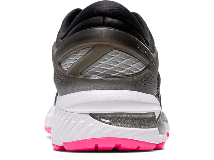 Back view of GEL-KAYANO™ 26 LITE-SHOW, BLACK/BLACK