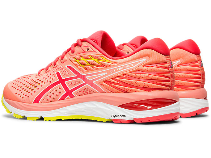 Front Left view of GEL-CUMULUS™ 21, SUN CORAL/LASER PINK