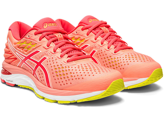 Front Right view of GEL-CUMULUS™ 21, SUN CORAL/LASER PINK