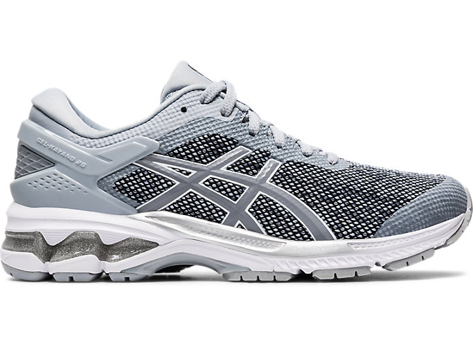 Right side view of GEL-KAYANO™ 26 MX, PIEDMONT GREY/SHEET ROCK