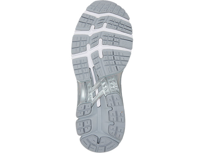 Bottom view of GEL-KAYANO™ 26 PLATINUM, PIEDMONT GREY/SILVER