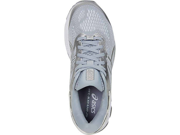 Top view of GEL-KAYANO™ 26 PLATINUM, PIEDMONT GREY/SILVER