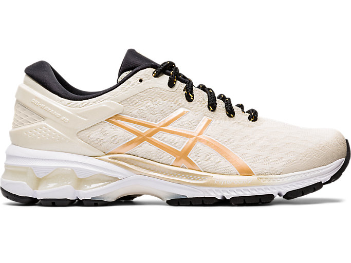 Right side view of GEL-KAYANO™ 26, BIRCH/CHAMPAGNE
