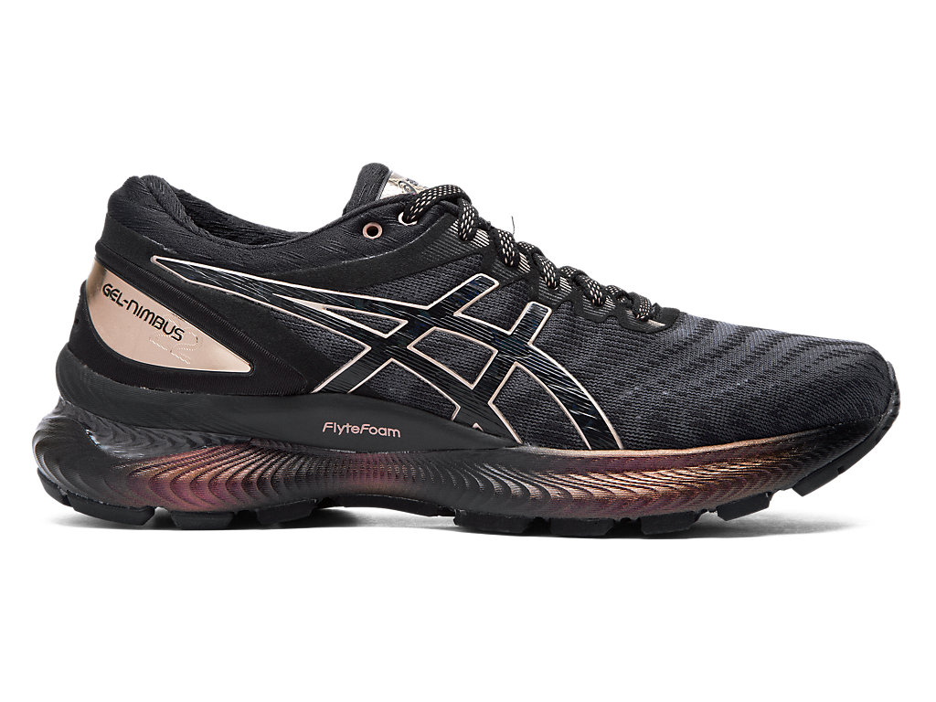 Women's GEL NIMBUS 22 PLATINUM | BLACKROSE GOLD | Running