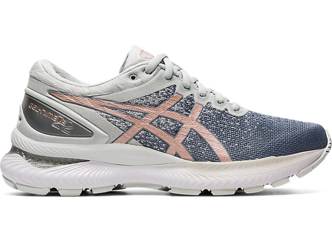 Women's GEL NIMBUS™ 22 KNIT | SHEET ROCKROSE GOLD