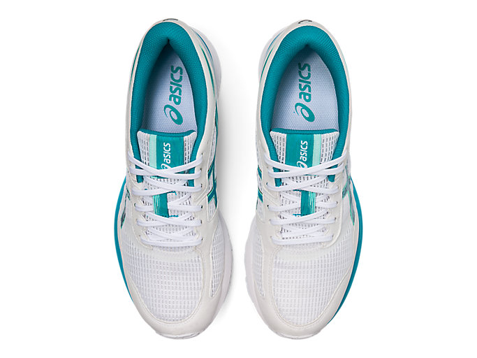 Top view of GEL-FEATHER GLIDE 5, WHITE/LAGOON