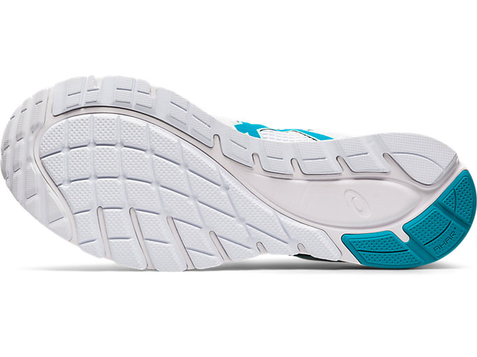 Bottom view of GEL-FEATHER GLIDE 5, WHITE/LAGOON
