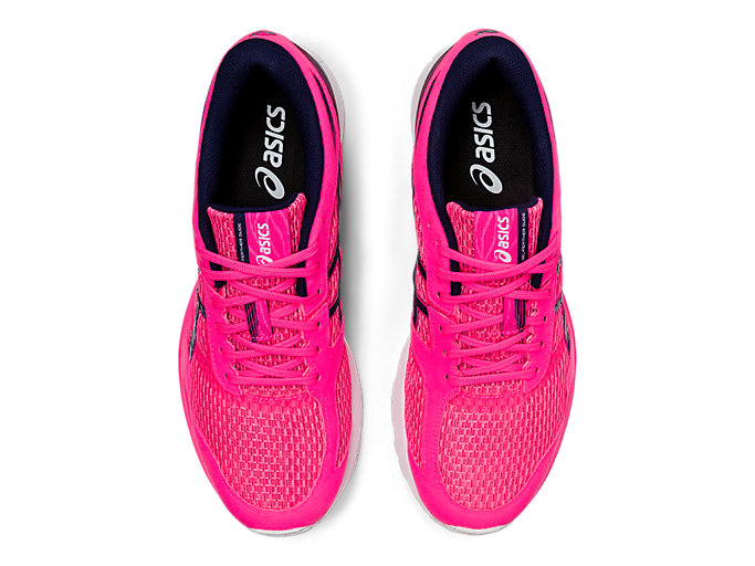 Top view of GEL-FEATHER GLIDE 5, HOT PINK/PEACOAT