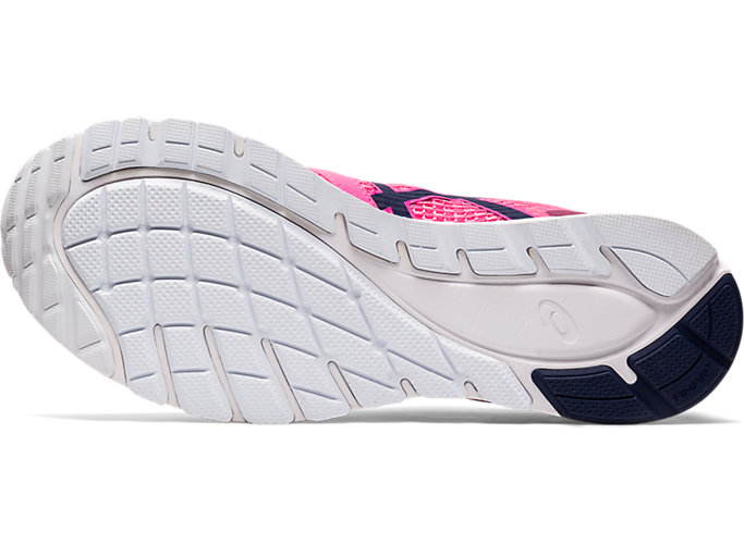 Bottom view of GEL-FEATHER GLIDE 5, HOT PINK/PEACOAT