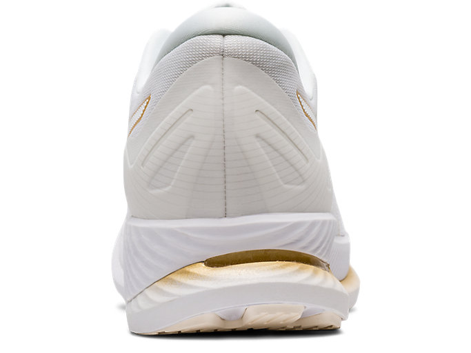 Back view of GlideRide, WHITE/PURE GOLD