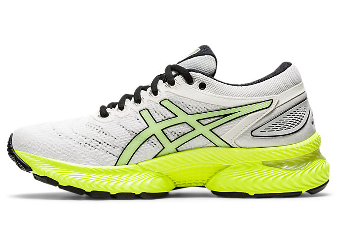 Left side view of GEL-NIMBUS 22, WHITE/SAFETY YELLOW