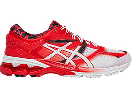 Right side view of GEL-KAYANO 26 TOKYO, CLASSIC RED/WHITE