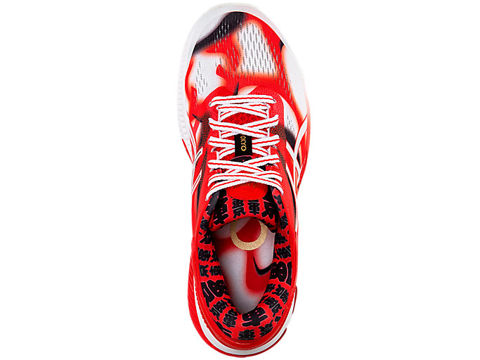 Top view of GEL-KAYANO 26 TOKYO, CLASSIC RED/WHITE