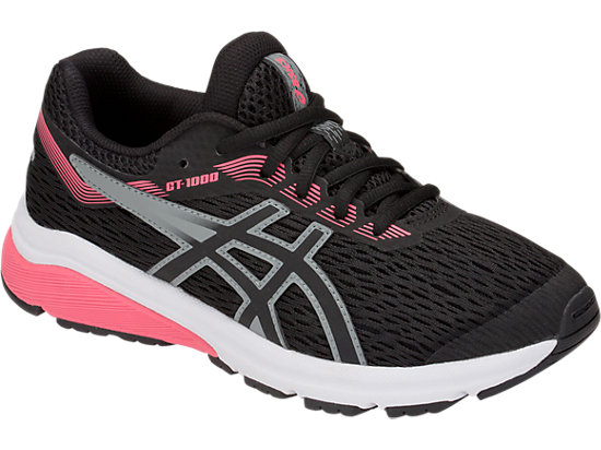 Asics Junior Girls GT 1000 7 GS Stability Running scarpa Pixel PinkFrosted Rose