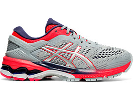 Right side view of GEL-KAYANO 26 GS, PIEDMONT GREY/SILVER