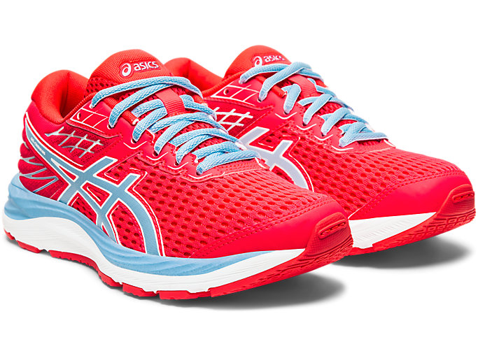 Front Right view of GEL-CUMULUS™ 21 GS, LASER PINK/HERITAGE BLUE