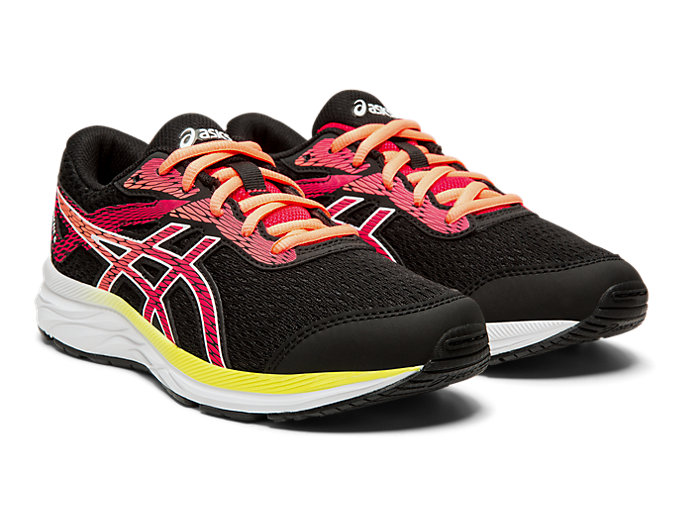Front Right view of GEL-EXCITE™ 6 GS, BLACK/LASER PINK