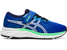 Right side view of PRE EXCITE 7 PS, ASICS BLUE/WHITE
