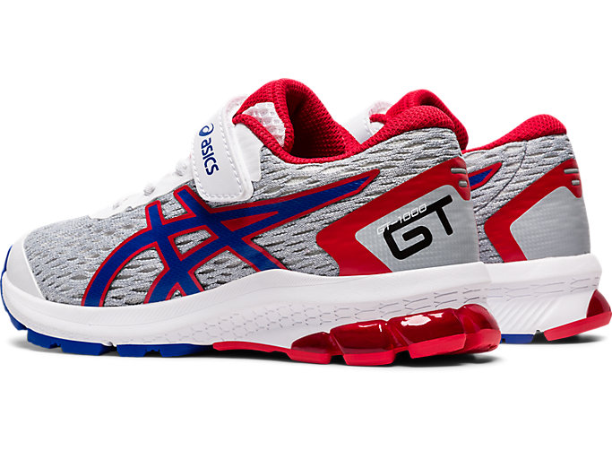 Front Left view of GT-1000 9 PS, WHITE/ASICS BLUE