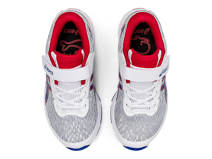 Top view of GT-1000 9 PS, WHITE/ASICS BLUE
