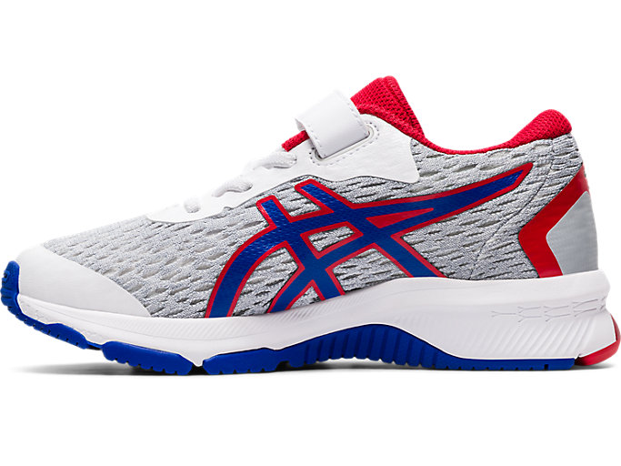Left side view of GT-1000 9 PS, WHITE/ASICS BLUE