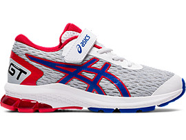 Right side view of GT-1000 9 PS, WHITE/ASICS BLUE