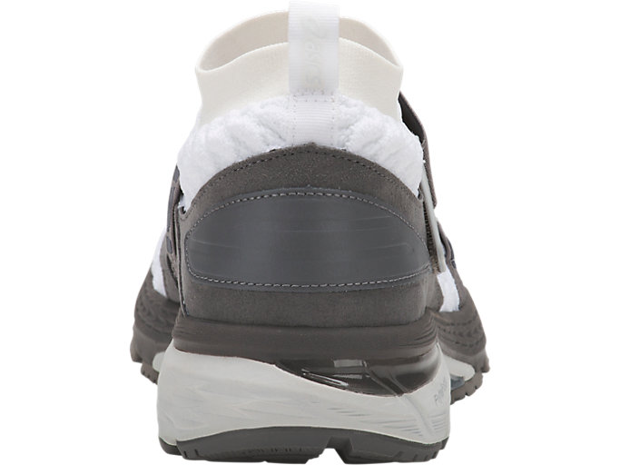 Back view of GEL-KAYANO 25 OBI, WHITE/CARBON