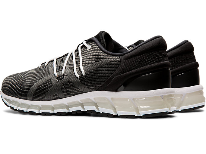 Front Left view of GEL-QUANTUM 360 4, BLACK/DARK GREY