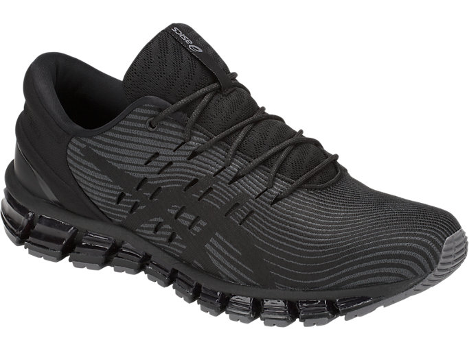 Front Right view of GEL-QUANTUM 360 4, DARK GREY/BLACK