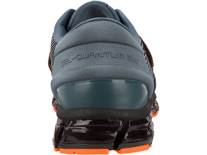 Back view of GEL-QUANTUM 360 4, IRONCLAD/BLACK