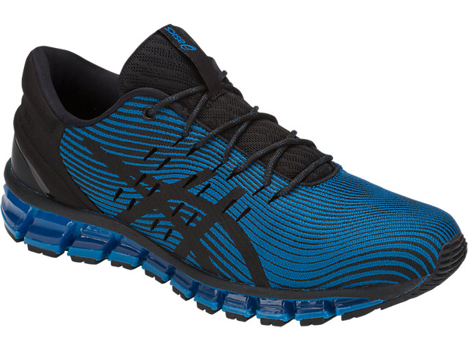 Front Right view of GEL-QUANTUM 360 4, RACE BLUE/BLACK