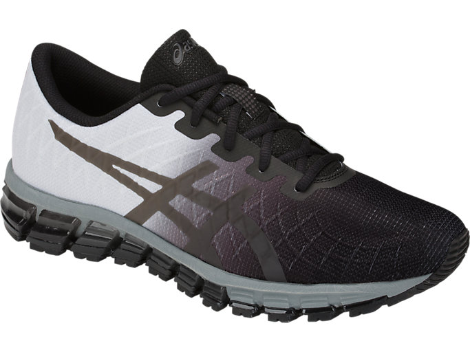 Front Right view of GEL-QUANTUM 180 4, BLACK/DARK GREY