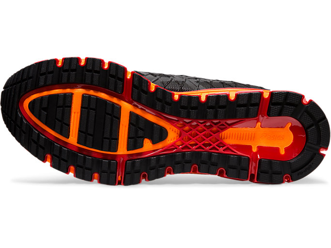 Bottom view of GEL-QUANTUM 180™ 4, BLACK/CLASSIC RED