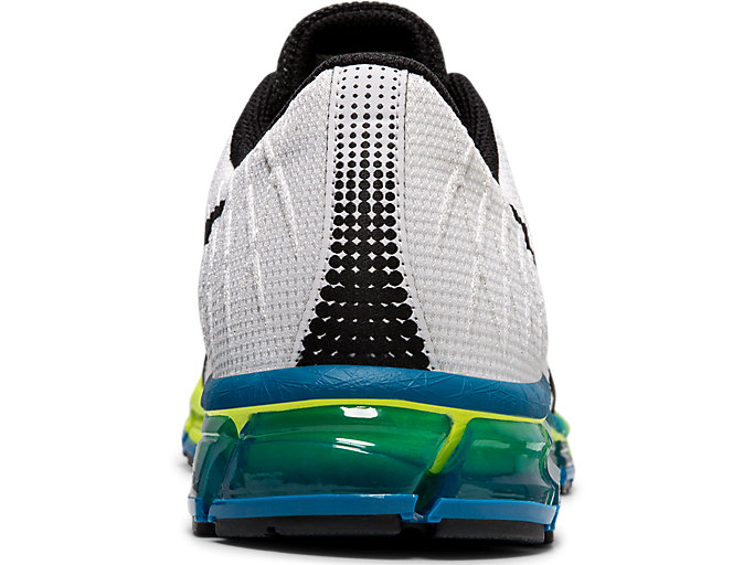 Back view of GEL-QUANTUM 180 4, WHITE/SAFETY YELLOW