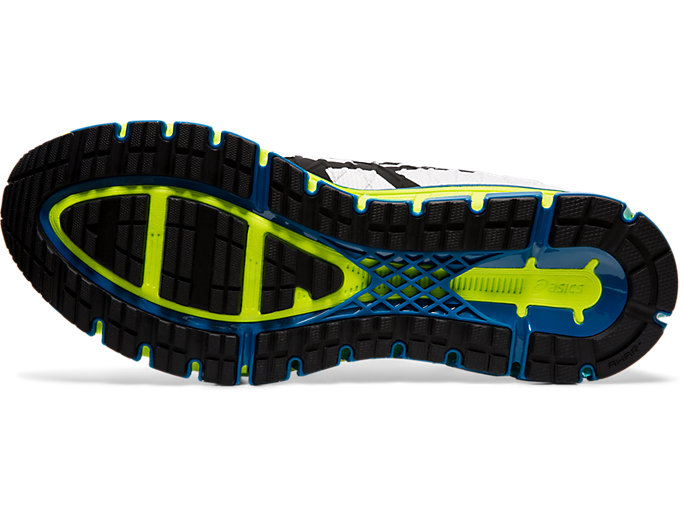 Bottom view of GEL-QUANTUM 180™ 4, WHITE/SAFETY YELLOW