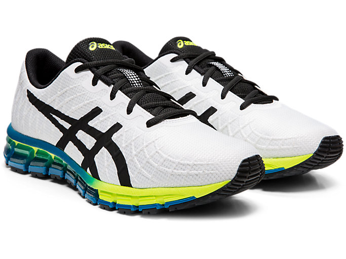 Front Right view of GEL-QUANTUM 180 4, WHITE/SAFETY YELLOW