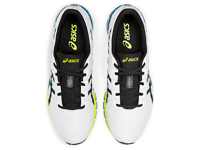 Top view of GEL-QUANTUM 180™ 4, WHITE/SAFETY YELLOW