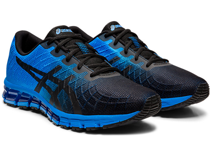 Front Right view of GEL-QUANTUM 180™ 4, ELECTRIC BLUE/BLACK